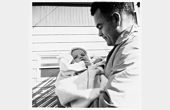 Infant Trisha and Dad