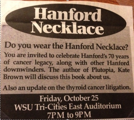 Hanford Necklace and thyroid cancer
