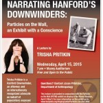 Hanford Downwinder lecture at Whitman College, Poster